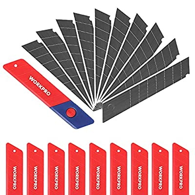 WORKPRO 18mm Snap-off Blades 100-Pack, SK5 Steel Replacement Blade Fits all 18mm Utility Knife & Box Cutter