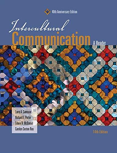 Intercultural Communication: A Reader