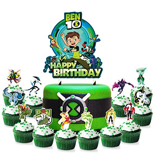25 Decorations for Ben 10 Cake Topper Cupcake Toppers Set Birthday Party Topper
