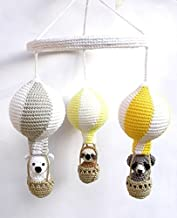 crochet hot air balloon mobile