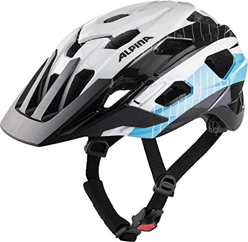 Alpina ANZANA Casco de Ciclismo, Unisex-Adult, darksilver-blk-Red, 57-61