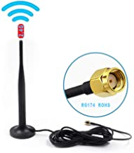 Alrolink High Gain Wifi Booster HD Wireless Camera Antenna with Magnetic Stand Base 9.85Ft Extension Cable, 2.4GHz , RP-SMA Male Connector,Black