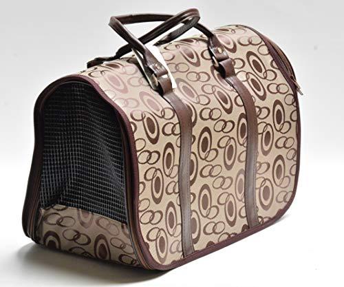 Hunde Tasche Tragetasche Transporttasche beige braun Maße 44x23x28 cm