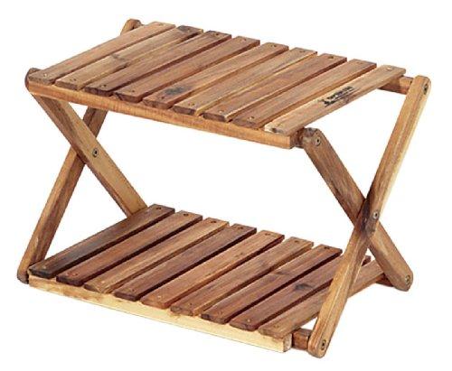 キャプテンスタッグ CS クラシックス 木製 2段 ラック <460> UP-2503 折りたたみ 木製ラック