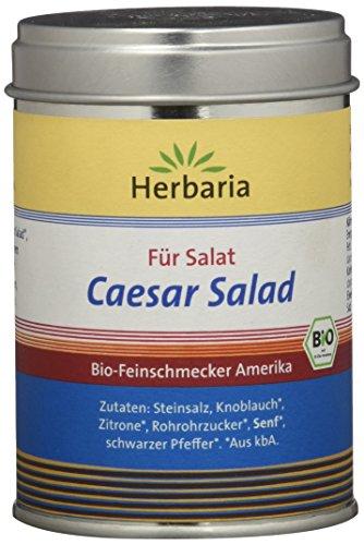 Herbaria 'Caesar Salad' Gewürzmischung für Salat, 1er Pack (1 x 120 g Dose) - Bio
