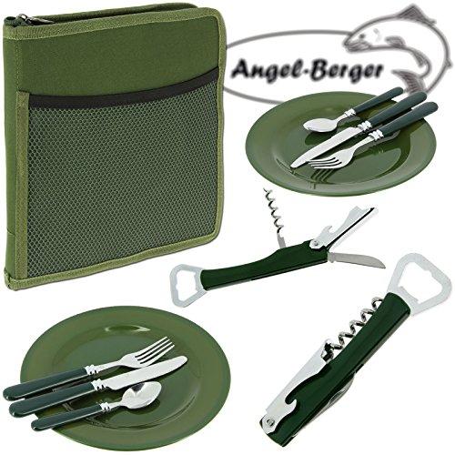 Angel-Berger Besteckset Campingset Foodbag Set 2 Personen