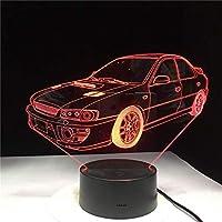 3D LED錯視ランプ ナイトライトカーグラデーシ形状USBベッドサイドベッドルームテーブルUSB屋内装飾雰囲気誕生日プレゼント