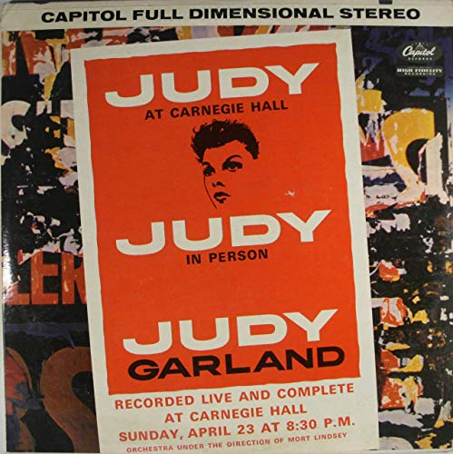 Judy Garland: Judy at Carnegie Hall, Judy in Person (2 Record Set) - LP Vinyl Record Album