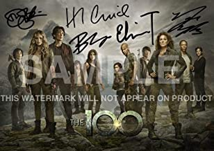 "The 100 TV Show Print cast Eliza Taylor, Bob Morley, Marie Avgeropoulos, Devon Bostick, Henry Ian Cusick (11.7"" x 8.3"")"