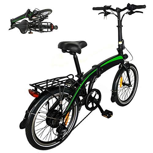 Bicicleta elctrica de montaa Urban Bike Bicicleta eléctrica de Altura Regulable Bicicleta Plegable eléctrica con Controlador de 5 velocidades Adecuado para Regalos para Adultos.