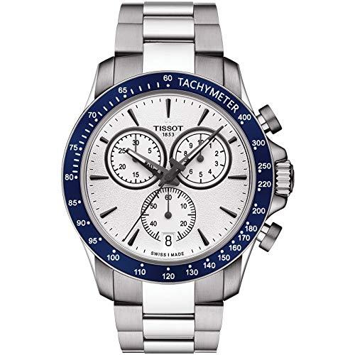 Tissot Herren-Uhren Analog Quarz One Size Silber Edelstahl 32002945