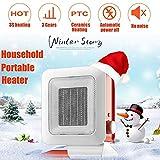 Elektrische Heizung, 3s schnell Heizung / 3 Temperatureinstellung, mit Tip-Over and Over-Hitzeschutz, 1400W Keramik Energie Heizung, für Heim und Büro Badezimmer