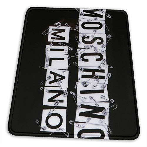Moschino Milano Mouse Pad Non-Slip Rubber Base for Office Gaming Computer with Stitched Edge 10x12 in