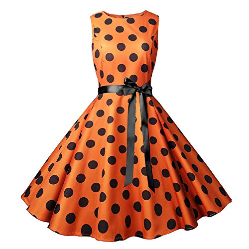 YYH Dames Jurk Vintage Kerst Jurk Xmas Rockabilly Cocktail Party Jurk M E