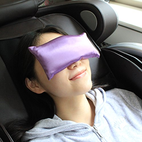 Jasmine Silk 100% Pure Silk Soft Lavender Aromatherapy Eye Pillow - Lavender