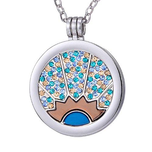 Morella Collar 70 cm de Acero Inoxidable y Colgante con Moneda de 33 mm en Bolsa de joyería