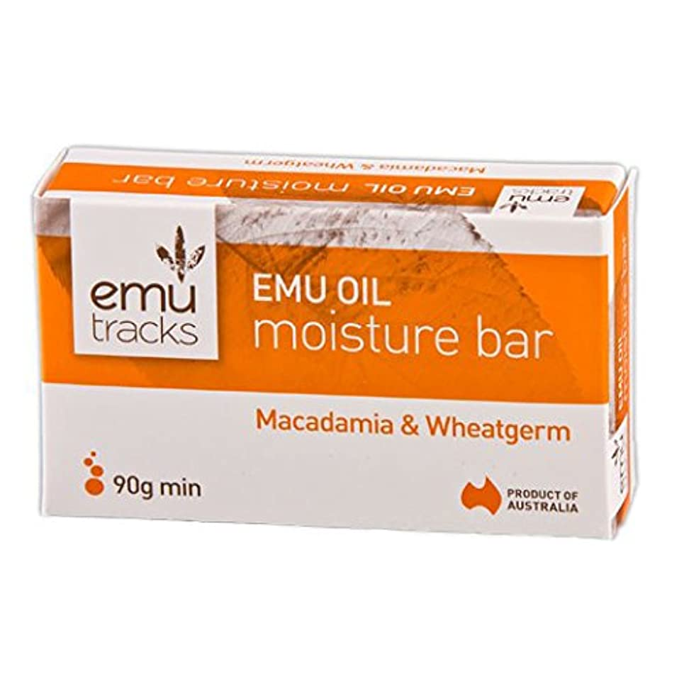 揮発性提唱する容器[Emu Tracks] エミュー?ソープ(Macadamia / Wheatgerm)90g x3個セット 【海外直送】
