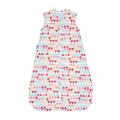 The Gro Company Rouge Zig Zag Travel Grobag Baby Sleeping Bag, 0-6 Months, 1.0 Tog
