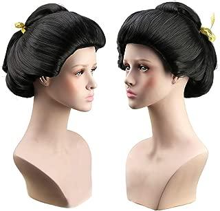 Women's Short Black Special Style Cosplay Wig Geisha Wig