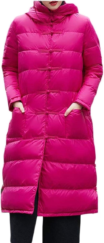Jxfd Women's Hooded Packable Ultra Light Weight Down Coats