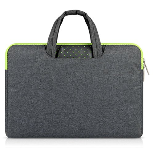 GADIEMENSS Waterproof Laptop Sleeve Case Bag with Handle Portable Computer Handbag for Apple Macbook Air Pro Chromebook and Other Notebook 11.6 inches Deep Gray II