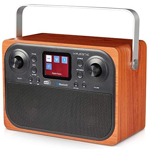 Majestic RT 197 DAB - Radio DAB DAB+ FM, Bluetooth, Display LC, Ingresso AUX-IN, uscita cuffie, sveglia 2 allarmi 3 suonerie