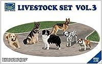リッチモデル 1/35 家畜セットNo.3 犬6頭 プラモデル RC35021