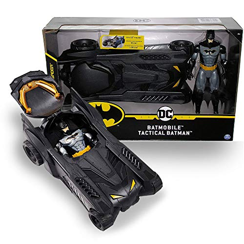 """Car Toy 2020 New Batman Play Set - 16"""" Batmobile with 12"""" Tactical Batman Action Figure - The Caped Crusador Real Action Toy Gift for Boys"""
