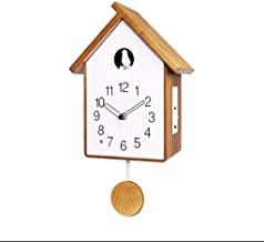 Wall Clocks الحديثة الوقواق ساعة البندول ساعة ساعة الحائط ضوء الاستشعار موجه بالساعة Decorative Wall Clock (Color : White ...