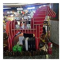 """本棚 馬型の本棚のディスプレイキャビネット、純木の本棚、家のオフィスのための多機能の棚(高い100cmまたは117cm) (Color : Red 100cm(39.3""""))"""