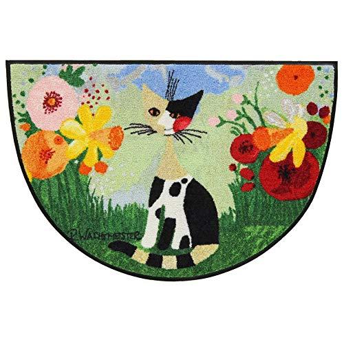 Salonloewe Rosina Wachtmeister Fußmatte Annette halbrund 60 x 85 cm by Fußmatte waschbar