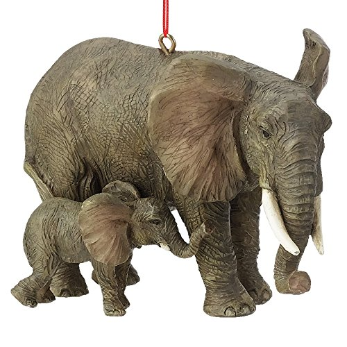 Midwest CBK 2.5' x 3.5' Resin Elephant with Baby Ornament