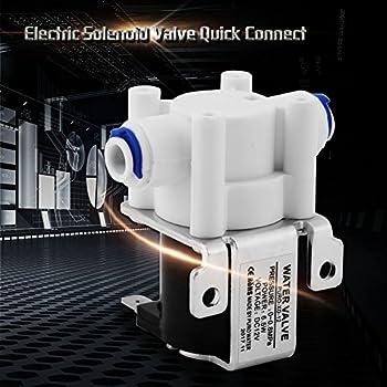 Akozon 1pc DC 12V Solénoïde Électrique Soupape Purificateur Valve Connexion Rapide Normalement Fermer