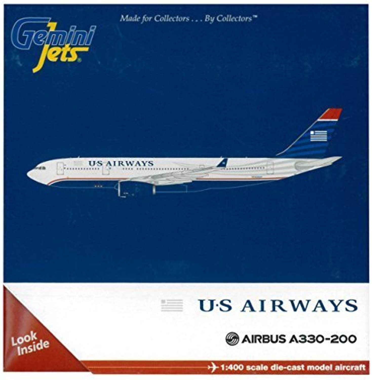 GeminiJets U.S. Airways A330-200 1 400 Scale Die Cast Aircraft by ADI GeminiJets