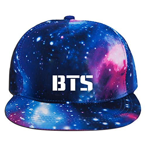 Yovvin BTS Basecap, Unisex Kpop BTS GOT7 Seventeen Blackpink Monsta X Hip-Hop Style Einstellbar Baseball Cap Snapback Hut Baseballkappen für Sport & Outdoor(BTS)