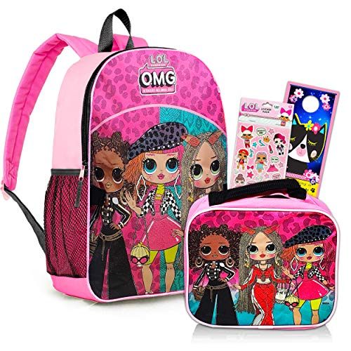Lol Dolls School Supplies Bundle - Premium Large 16' Lol Dolls Backpack, Lol Doll Lunch Box, Lol Dolls Stickers, and More (Lol Dolls Activity Set)