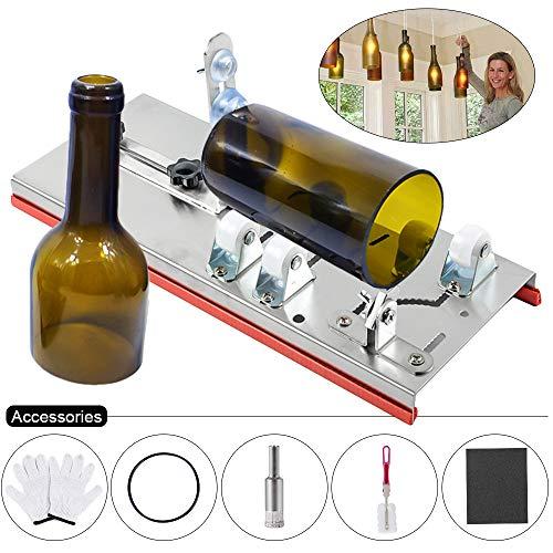Snewvie Glassnijder voor flessen, flessensnijder, glassnijder, flessensnijder, kit voor doe-het-zelvers, flessen, lampen, kandelaar Set B
