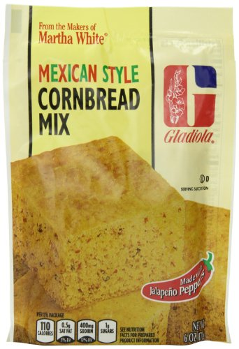 Gladiola Mexican Style Cornbread Mix, 6-Ounce (Pack of 12)