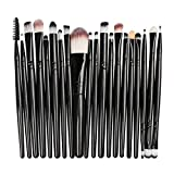 20 Pcs Makeup Brush Set Professional Eye shadow Brushes, Cosmetic Brush Set Blending Brush Tool (Black)