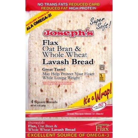 Joseph's Low Carb Flax, Oat Bran & Whole Wheat Lavash Bread (10-Pack)