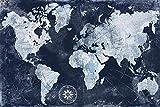 Mapa del mundo Vintage Lienzo Mapa del mundo Impresión impermeable Mapa Mapa del mundo Exquisito Mapa del mundo Espectacular Decoración de la casa-20x30cm_HZ13131