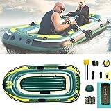 WBJLG 2 Personas, Bote de Goma Inflable automático, Bote de Pesca Inflable rápido y fácil de Transportar, Seguro y Resistente al Desgaste