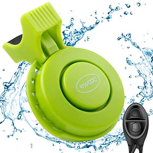 FancyWhoop Elektronische Fahrradklingel USB Wiederaufladbar Fahrradklingel mit IP65 Wasserdicht 120 dB 4 Soundsmodi für Mountainbike