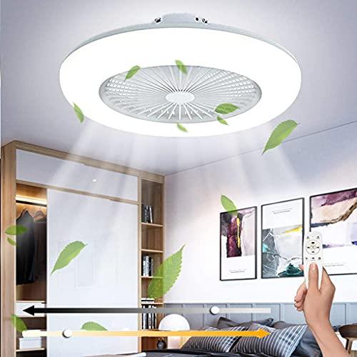 Ventilador De Techo Con LED Luz, Ventilador de Regulable Moderna Con Control Remoto Mando A Distancia,3 Velocidad Del Viento Ajustable y Temporizador, Adecuado Para Sala De Estar Dormitorio Habitación