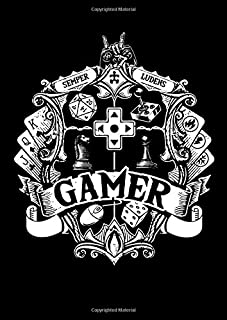 Notebook: Gamer Dice Rpg Tabletop Gamepad Funny Gifts 120 Pages, A4 (About 8,5X11 Inches / Letter), Lined / Ruled, Diary
