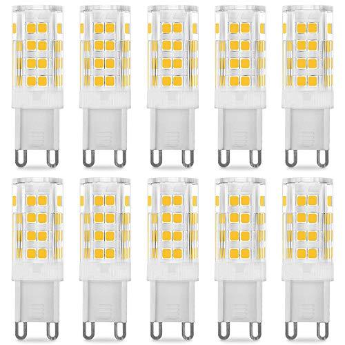 Bombillas LED G9 de 5W, Pursnic Equivalentes a Lámparas halógenas de 40W, 3000K G9 Lámparas LED Blancas Cálida, 400LM, Ángulo de Haz de 360°, AC 220-240V, Pack de 6 (10P, 5W 3K)