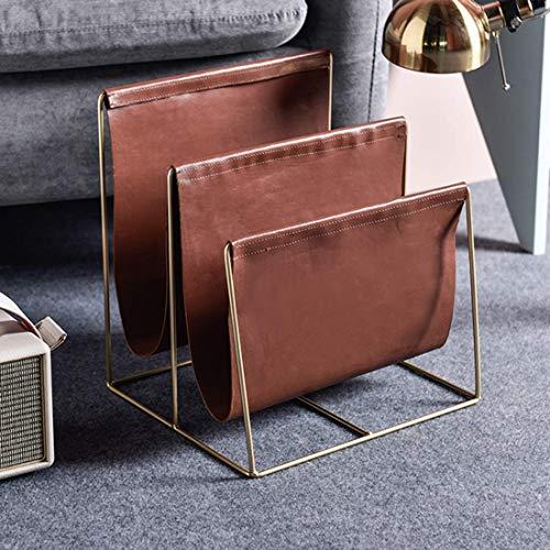 GWZSX Revistero Moderno Porta revistas de Cuero con Compartimentos revistero Estante de Libros revistero de coleccionistas de revistas para Sala de Estar de Dormitorio- 2 Compartimentos