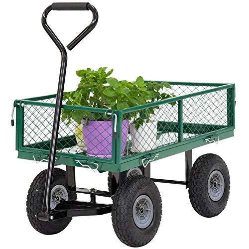 lawn carts Garden Carts Yard Dump Wagon Cart Lawn Utility Cart Outdoor Steel Heavy Duty Beach Lawn Yard Landscape