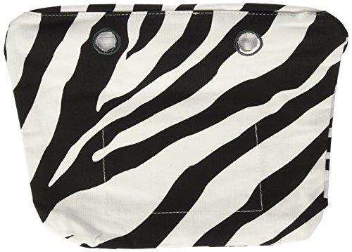 O bag Damen Sacca Mini Handtasche, Mehrfarbig (Zebra), 29x25x9 cm (B x H x L)
