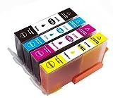 ICチップ付 HP用178 XL 互換インクカートリッジ 増量タイプ 残量表示あり 4色セット